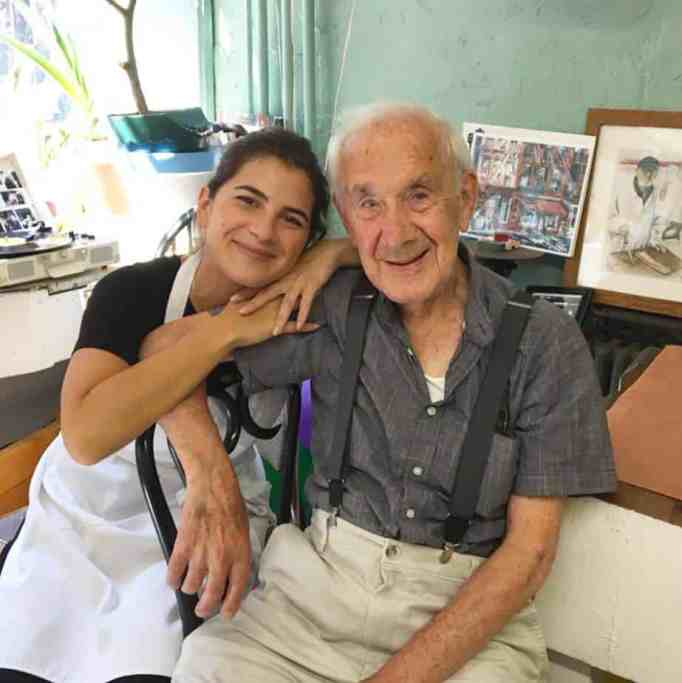 A photo with grandpa at home