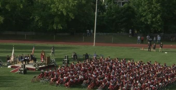 The Fitchburg High School graduation ceremony