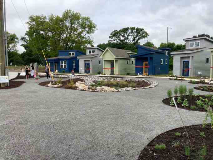Tiny homes in The Village at Glencliff