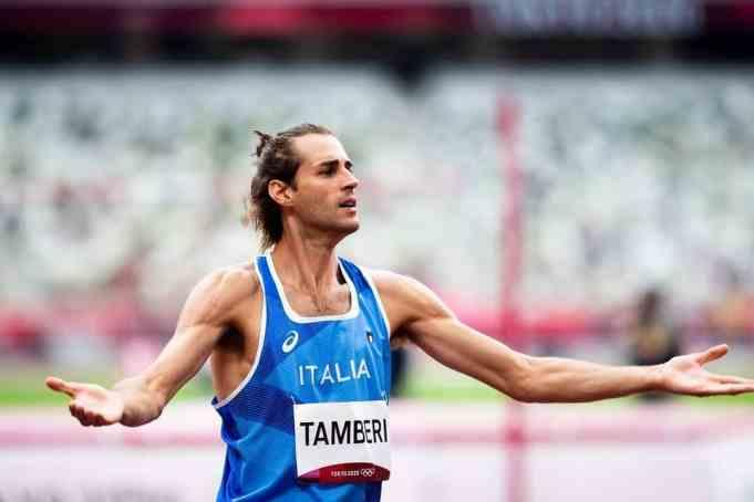 Gianmarco Tamberi during the Tokyo Olympics