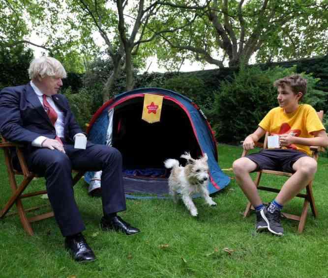 Max Woosey with Boris Johnson