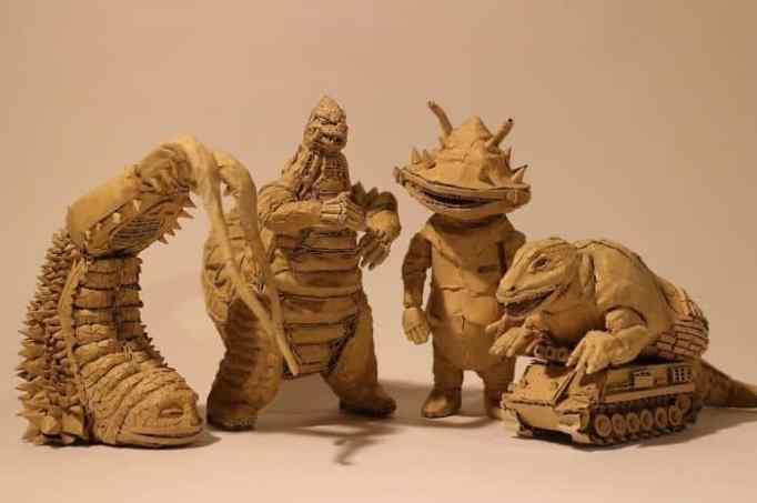 Monami Ohno's cardboard sculptures