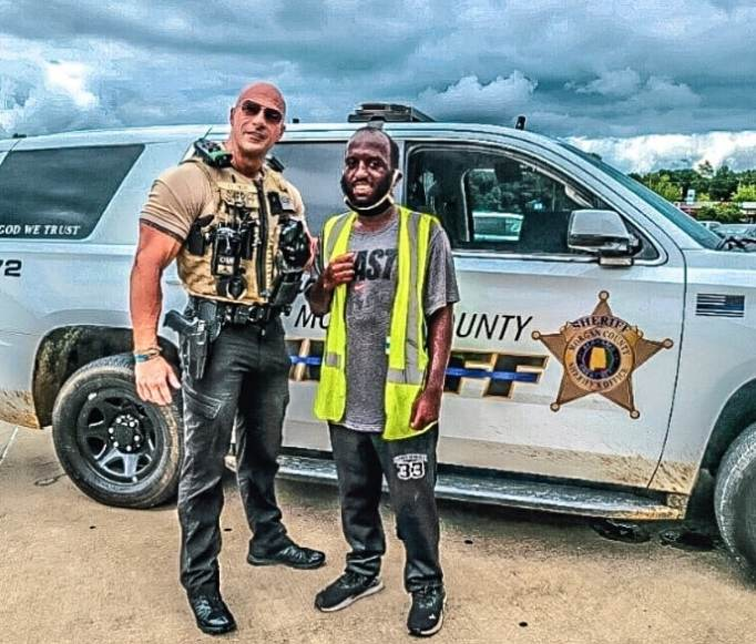 Patrol Lieutenant Eric Fields with Tyler
