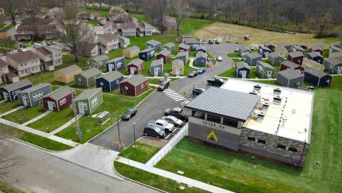An aerial view of the VCP Village in Kansas City