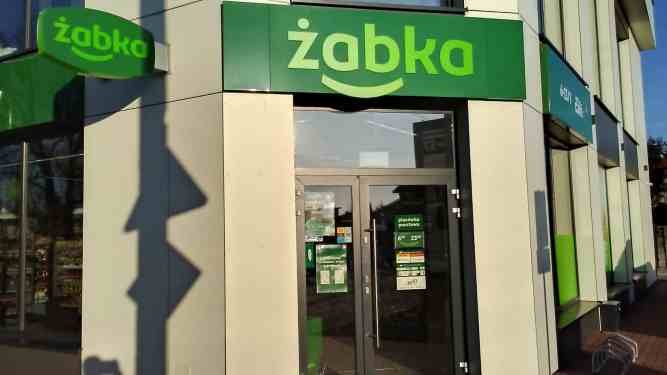 Storefront of a Zabka store