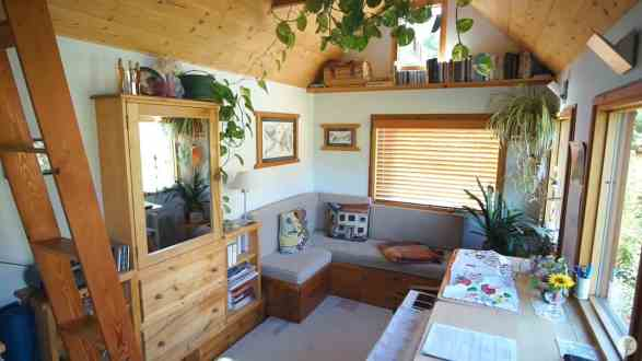 Inside Brigitte's tiny home