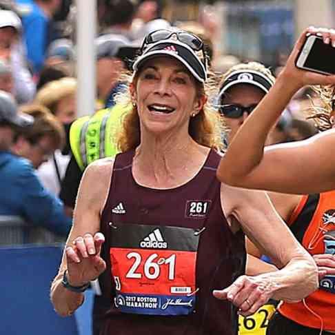 Kathrine Switzer in the 2017 Boston Marathon