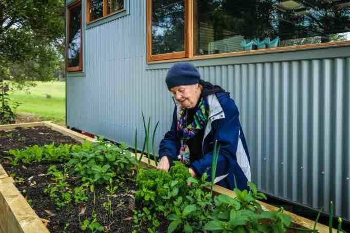 Merle tending to her garden