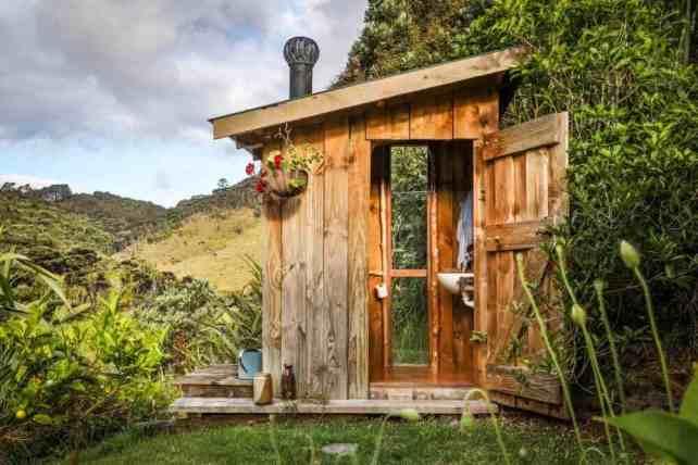 Ruby's outdoor toilet