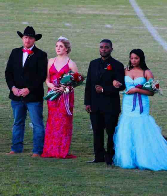 Brittany Walters and Nyla Covington with their escorts