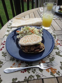 First outdoor dinner of the year, April 2012