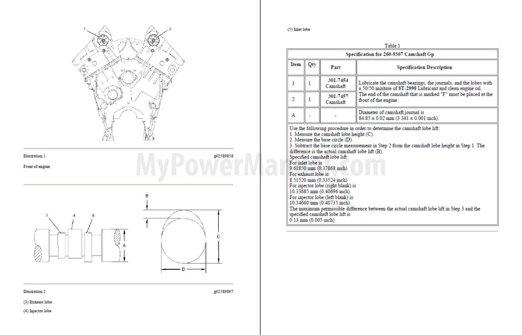 Caterpillar C32 RNY Marine Diesel Engine Service Manual