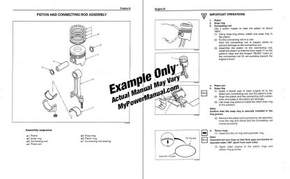 Engine repair shop service manual example PDF download