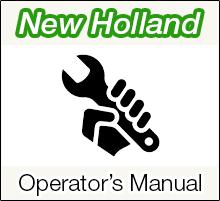 New Holland LS180 Skid Steer Loader Operator's Manual