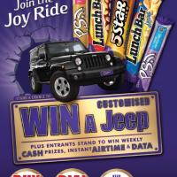 Join the Joyride with Cadbury for a chance to win a CUSTOMISED Jeep Wrangler!
