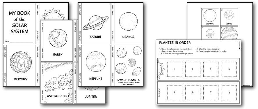 Solar System Printables and Lesson Pack for Preschoolers