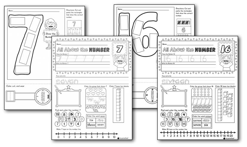 Numbers 1-20 Printable Pack — My Preschool Plan
