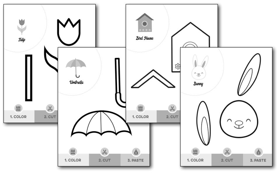 Spring Scissor Skills Worksheets — My Preschool Plan