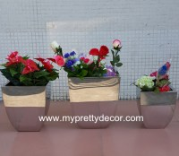 Stainless Steel Office Flower Pot Container