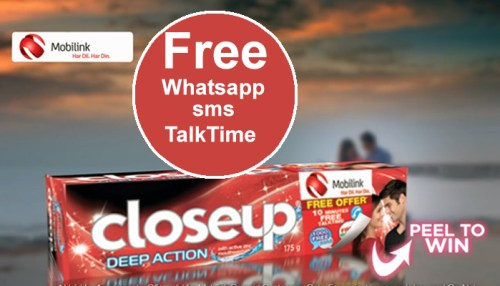 Mobilink Offer Buy a Closeup & Win Free Incentives by Mobilink