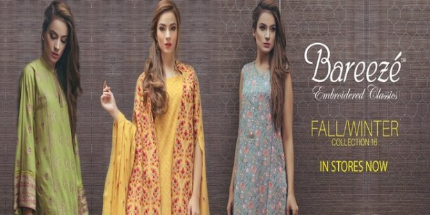 Bareeze Ladies Winter Dresses Collection Price in Pakistan