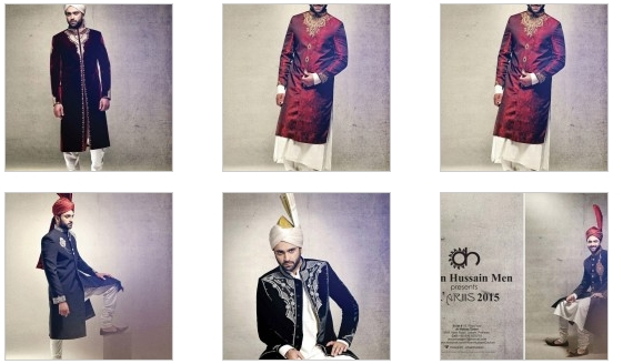 Gents Sherwani For Winter By Ahsan Hussain 2016 Price In Pakistan Colors Designs