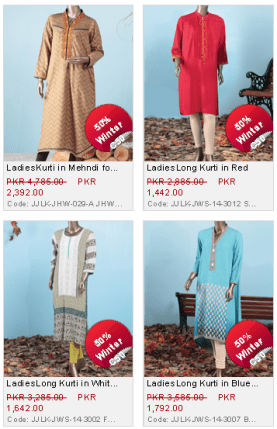 Junaid Jamshed Latest Winter Kurtis Collection For Ladies with Price
