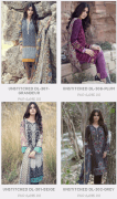 Maria B Unstitched Linen and Embroidered Digital Ladies Dresses