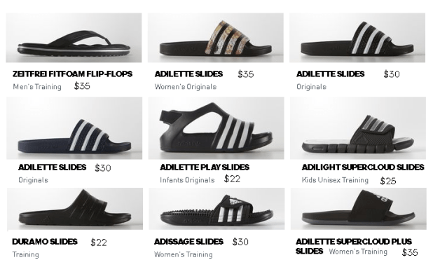 Adidas Men's Shoes Collection For Summer 2016 Sandal and Slides New Arrivals with Price