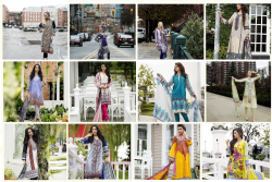 Summer Dresses by Ittehad Ladies Crystal and German Lawn Suits New Designs Price
