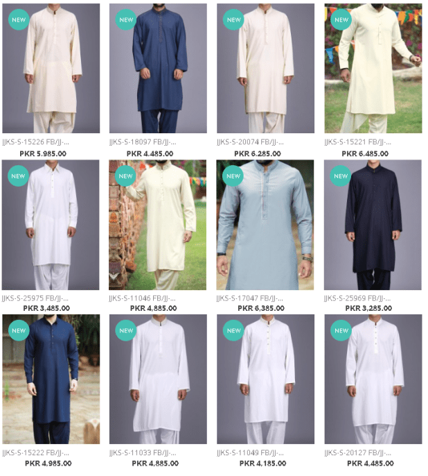 Latest Kameez Shalwar and Kurta Dresses Collections By J. Junaid Jamshed For Men Price