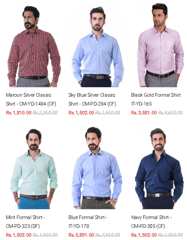 Summer Arrivals By Gul Ahmed Formal Casual Shirts For Mens 2016 Discount Offers Price
