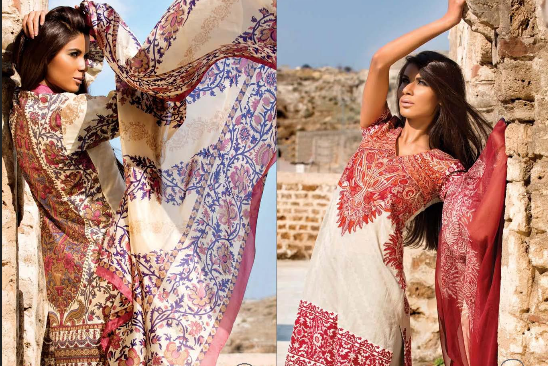 Sana Safinaz Latest 2016 Summer Lawn and Muzlin Dresses For Women With Price