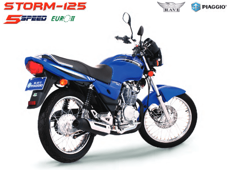 Ravi Piaggio Storm 125cc New Model 2021 Features and Specifications Colors Price Reviews