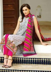 Alkaram Ladies Summer Cotton Silk Chikan Kari New Designs 2017 Suits and Prints with Price
