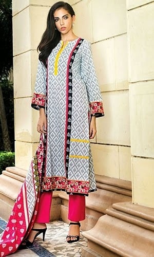 Alkaram Ladies Summer Cotton Silk Chikan Kari New Designs 2017 Suits and Prints with Price
