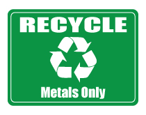 Recyclable metals only sign thumb