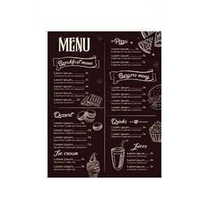 Menus, Restaurant Menus