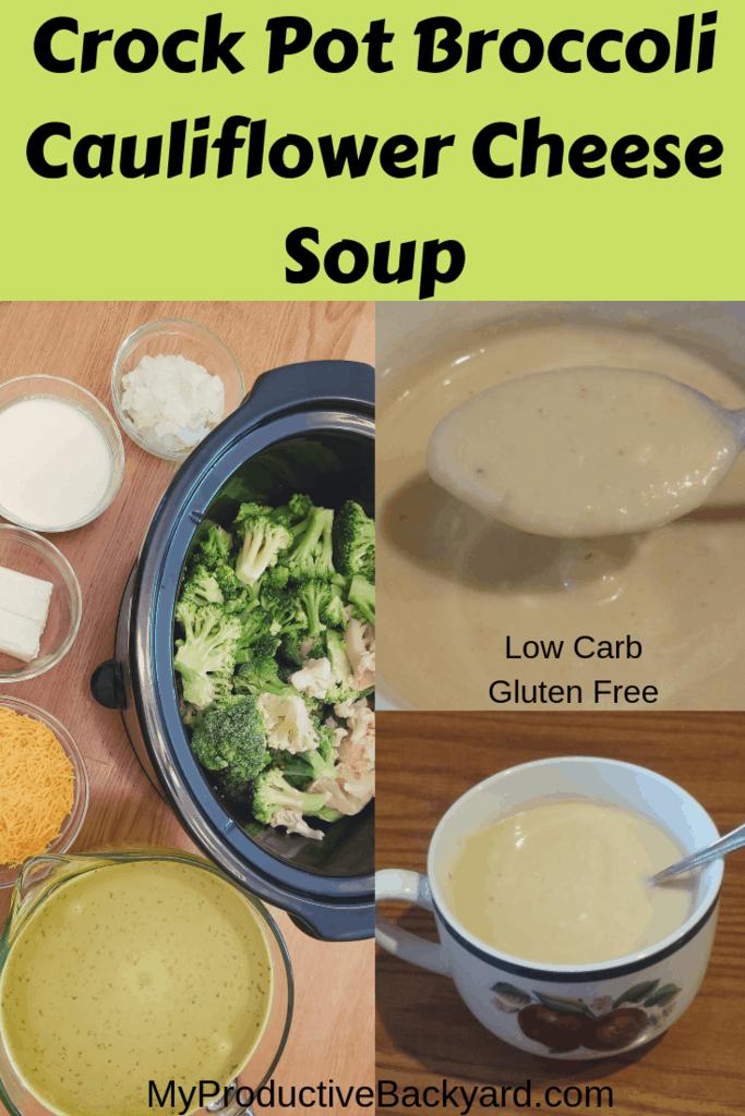 Crock Pot Broccoli Cauliflower Cheese Soup