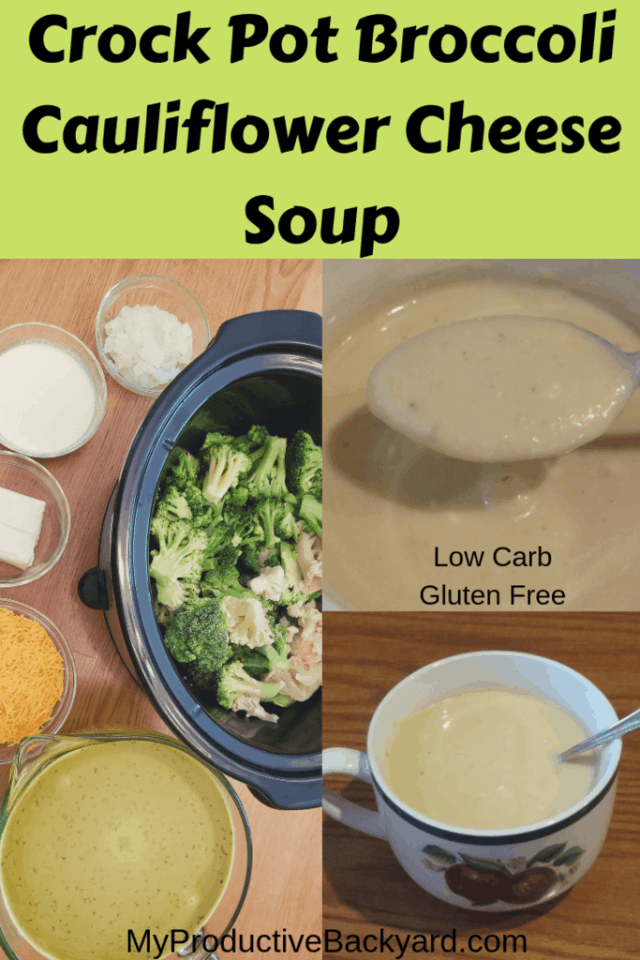 Crock Pot Broccoli Cauliflower Cheese Soup