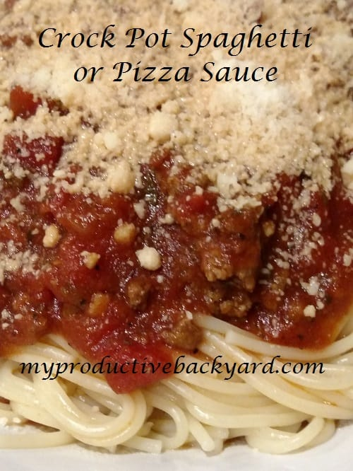 Crock Pot Spaghetti or Pizza Sauce