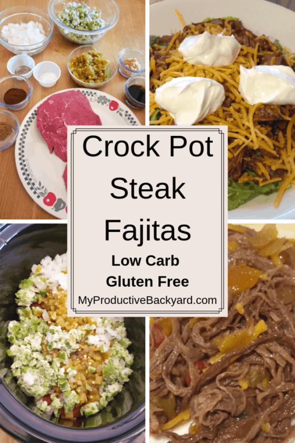 Crock Pot Steak Fajitas