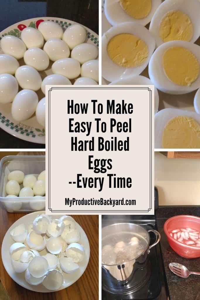 How do i make my hard boiled eggs easy to peel