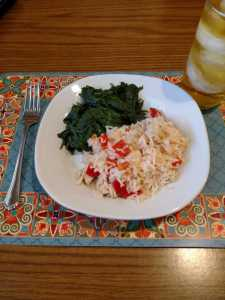 Solita's Spanish Rice and Spinach