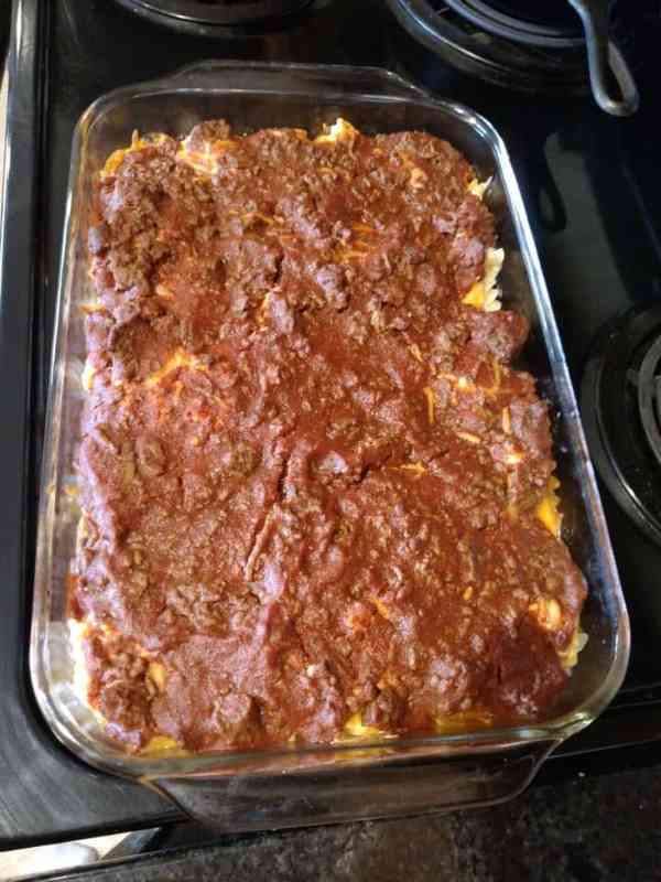 casserole after baking for 25 minutes