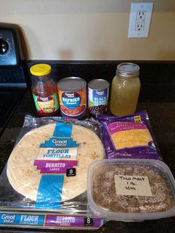 ingredients for taco tortilla bake