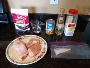 cherry skillet chicken ingredients