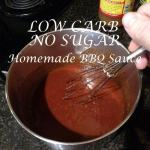 Low Carb No Sugar Homemade BBQ Sauce