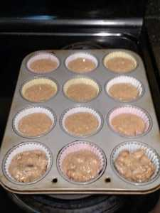 applesauce muffins ready for oven