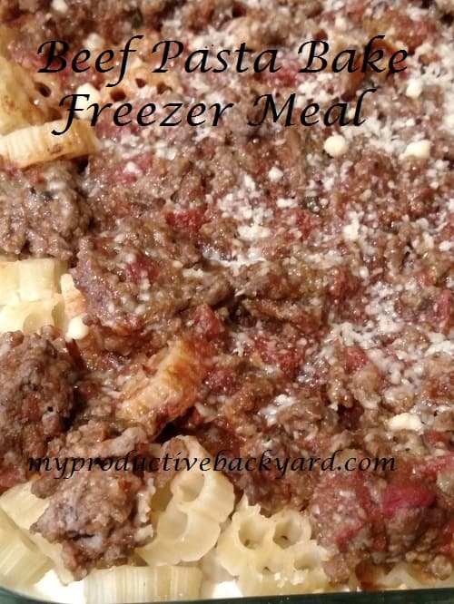 Beef Pasta Bake Freezer Meal